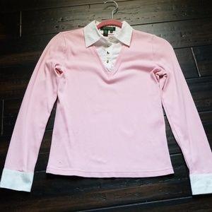 Ralph Lauren pink and white dress shirt